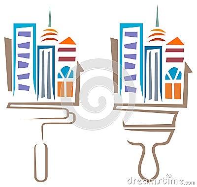 Logo peinture batiment gratuit am nagement bureau entreprise - Bureau virtuel gratuit en ligne ...