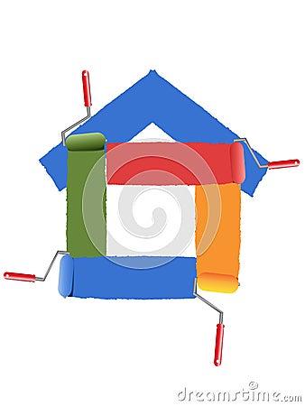 Peinture du symbole de la maison - Maison de la peinture ...