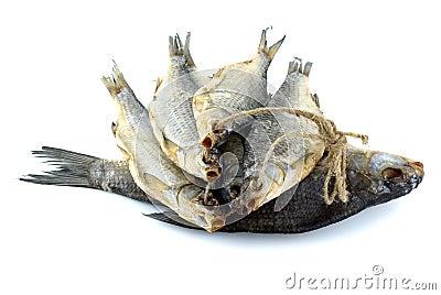 Peixes da barata do mar e peixes secados da brema