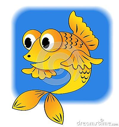 Peixes dos desenhos animados.