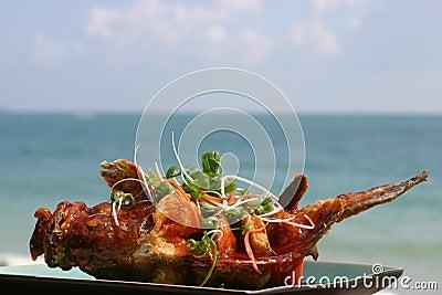 Peixes fritados