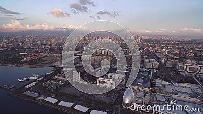 Pejzaż miejski Manila, Filipiny Lekkim i biznesowym blisko do Podpalanego miasta, Pasay z zmierzchu terenem Blisko do centrum han zbiory