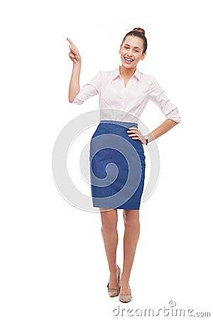 Peka för affärskvinna