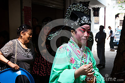 Peking Opera performer Editorial Stock Image