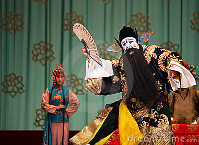 Peking Opera - The Red Haired Galloping Horse Editorial Image