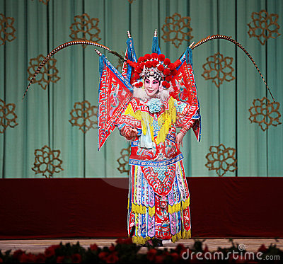Peking Opera - The Red Haired Galloping Horse Editorial Stock Photo