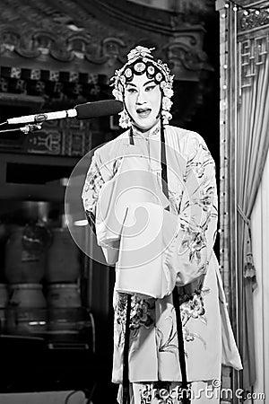 Peking Opera singer Editorial Photography