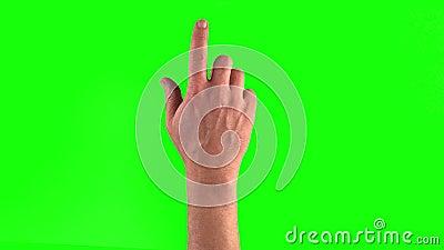 Pekskärmen gör en gest i Ã-†för † 3840†† 2160 gester hand seten