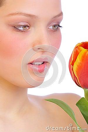 Pele da flor.