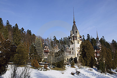 Peles Castle situated in Sinaia, Roman
