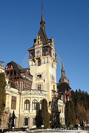 The Peles Palace in Sinaia, Romania. Editorial Image
