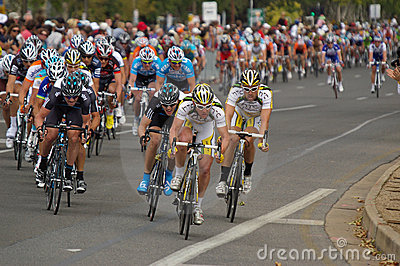 Peleton Tour Down Under 2010 Editorial Image