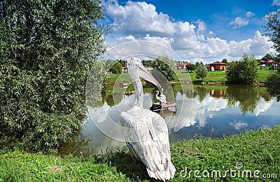 Pelican having rest
