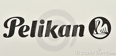 Pelikan brand and logo Editorial Stock Image