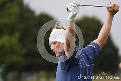 Pelle Edberg, Vivendi golf cup, sept 2010 Editorial Stock Image