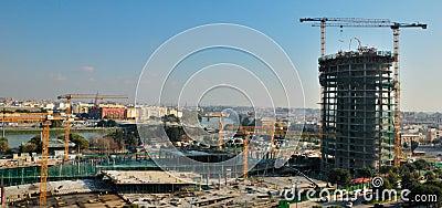 Pelli tower under construccion Editorial Stock Photo
