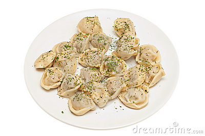 Pelmeni - traditional russian meat dumpling