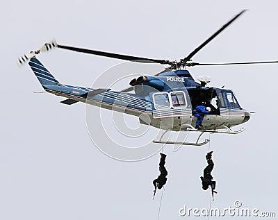 Pelotão da polícia. Foto de Stock Editorial