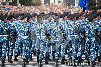 Pelotão especial da polícia Foto de Stock Editorial