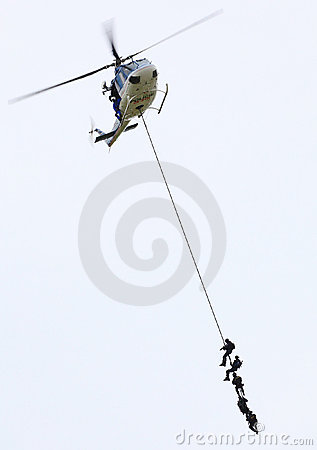 Pelotón de la policía. Foto editorial
