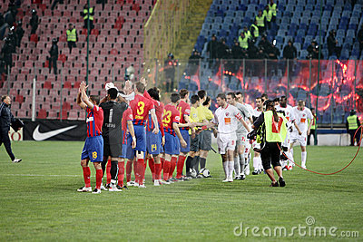 Pelotón de Steaua Imagen de archivo editorial