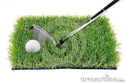Pelota de golf y club