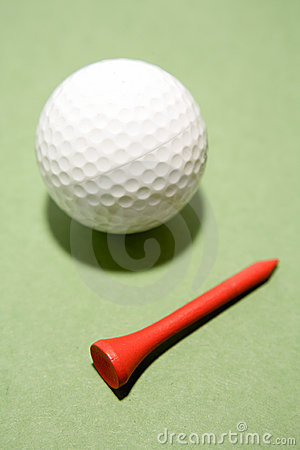Pelota de golf y te