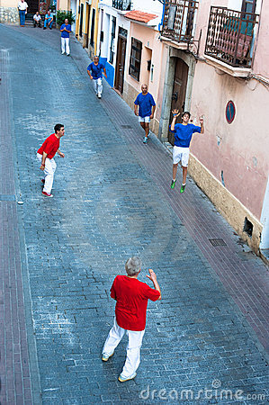 Pelota teams Editorial Stock Image