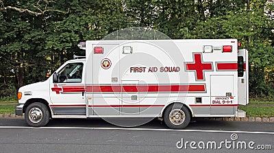 Pelotón de los primeros auxilios Foto de archivo editorial