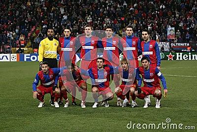 Pelotón de Steaua Bucarest Fotografía editorial
