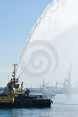Pelotão marinho do incêndio