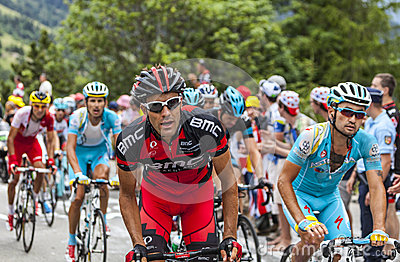 The Peloton on Alpe D Huez Editorial Stock Photo