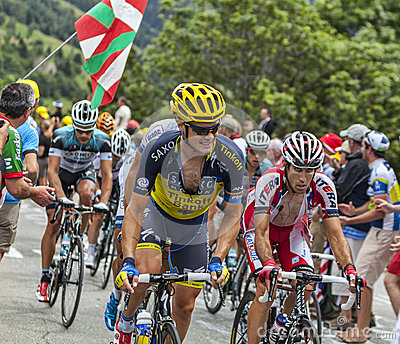 The Peloton on Alpe D Huez Editorial Photography