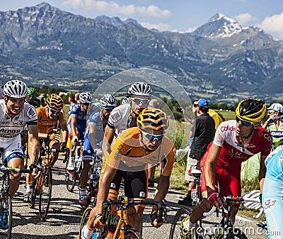 The Peloton in Alps Editorial Image