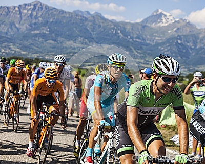The Peloton in Alps Editorial Image