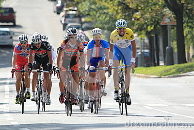 Peloton in cycling race Bohemia tour 2012 Editorial Photography