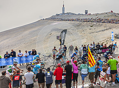 The Peloton on Mont Ventoux Editorial Stock Image