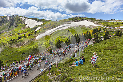 The Peloton in Mountains Editorial Photo