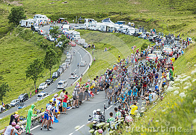 The Peloton in Mountains Editorial Photography