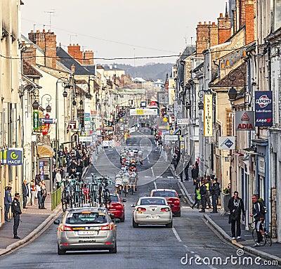 Peloton- Parijs Nice 2013 in Nemours Redactionele Afbeelding