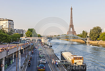 The Peloton in Paris Editorial Photography