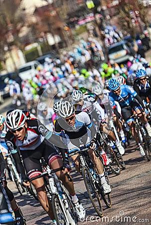 The Peloton- Paris Nice 2013 in Nemours Editorial Stock Image