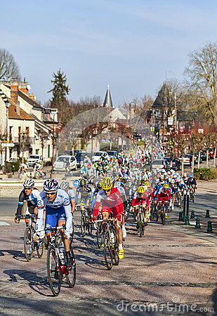 The Peloton- Paris Nice 2013 in Nemours Editorial Image