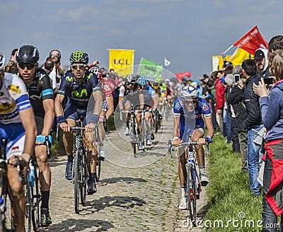 The Peloton- Paris Roubaix 2014 Editorial Stock Image