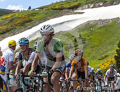 The Peloton in Pyrenees Editorial Stock Image