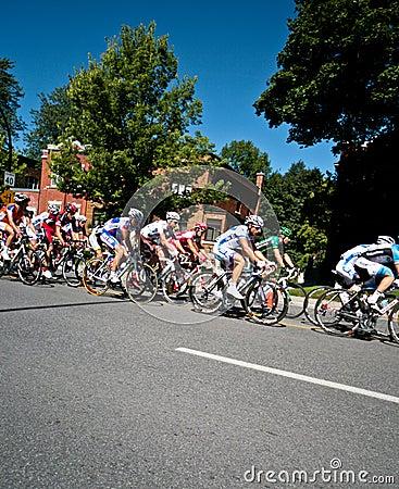 The Peloton racing Editorial Photography