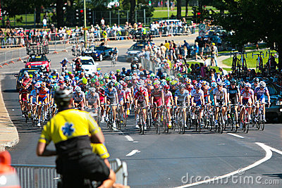 The Peloton racing Editorial Photography