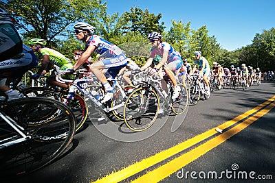 The Peloton racing Editorial Stock Photo