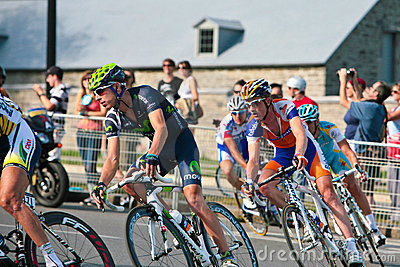 The Peloton racing Editorial Stock Photo