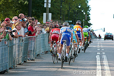 The Peloton racing Editorial Stock Image
